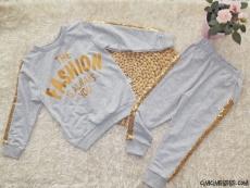 Pullu Şeritli Kokoş Kız Çocuk Eşofman Takımı