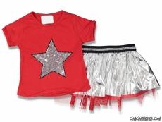 Star Etekli Kız Çocuk Takım