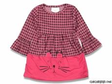 Minik Kedi Kız Çocuk Elbise