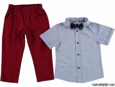 Erkek Çocuk Papyonlu Pantolonlu Takım