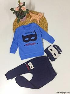 Maske Şapkalı Bebek Takım