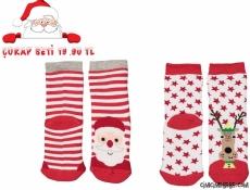 2'li Noel Havlu Çorap Seti