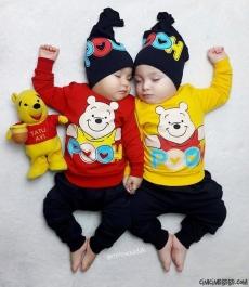 Pooh Şapkalı 3'lü Eşofman Takımı