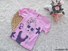 Kızçeler Tokalı Kız Baskılı T-Shirt
