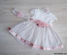 Minik Prenses Bandanalı Kız Bebek Elbise