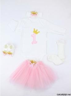 Prenses 1 Yaş Doğum Günü Kostüm