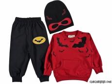 Süper Kahraman Şapkalı 3'lü Eşofman Takımı