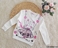 Pullu Prenses İçi Polar Kız Çocuk Sweat