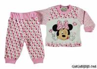 Puanlı Fare Baskılı Bebe Pijama Takımı