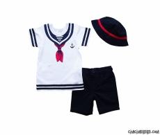 Denizci Şapkalı Şortlu Takım