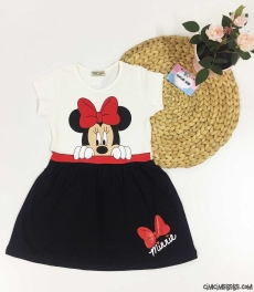 Sevimli Miki Kız Çocuk Elbise