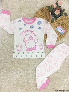 Anasının Kuzusu Kız Çocuk Pijama Takımı