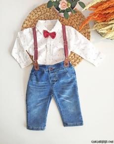 Erkek Bebek Kot Pantolonlu Takım