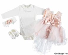 Fiyonklu Kız Bebek Mevlütlük Set