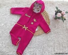 Kapitoneli Kapşonlu Prenses Bebek Tulum