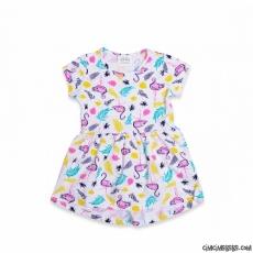 Flamingolu Kız Çocuk Elbise