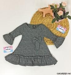 Balıksırtı Kız Çocuk Kışlık Elbise