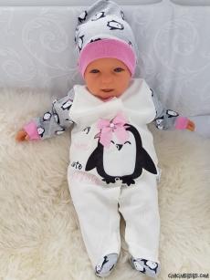 Penguen Şapkalı Bebek Tulum