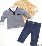 Kazaklı Gömlekli 3'lü Erkek Bebe Takım