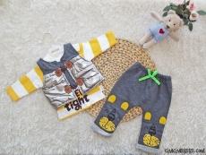 Tarz Şişme Yelekli 3'lü Bebek Takım