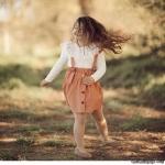 Yakası Güpürlü Kız Çocuk Takım