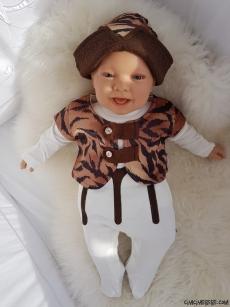 Kayı Boyu Erkek Bebek Şapkalı Mevlütlük Tulum