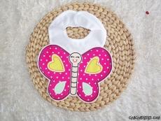Kelebekli Bebek Önlük