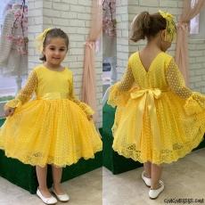 Dantel Kız Çocuk Elbise