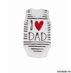 I Love Dad Askılı Badi