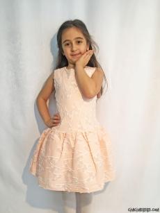 İnci Detaylı Kız Çocuk Elbise
