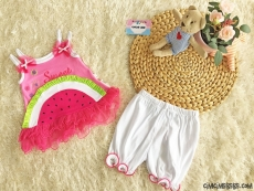 Sevimli Karpuz 2'li Bebek Takım