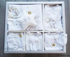 Yıldızlı Tütülü 10 Parça Bebek Zıbın Seti