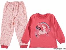 Minik At Kız Çocuk Pijama Takımı