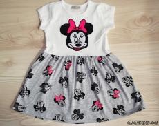 Fareli Sevimli Kız Çocuk Elbise