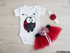 Tütülü Uğur Böceği Badili Bebek Takım