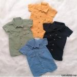 Gömlek Yakalı Müslin Tulum