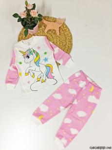 Unicorn Kız Pijama Takım