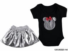 Lameli Etekli Kız Bebek Takım